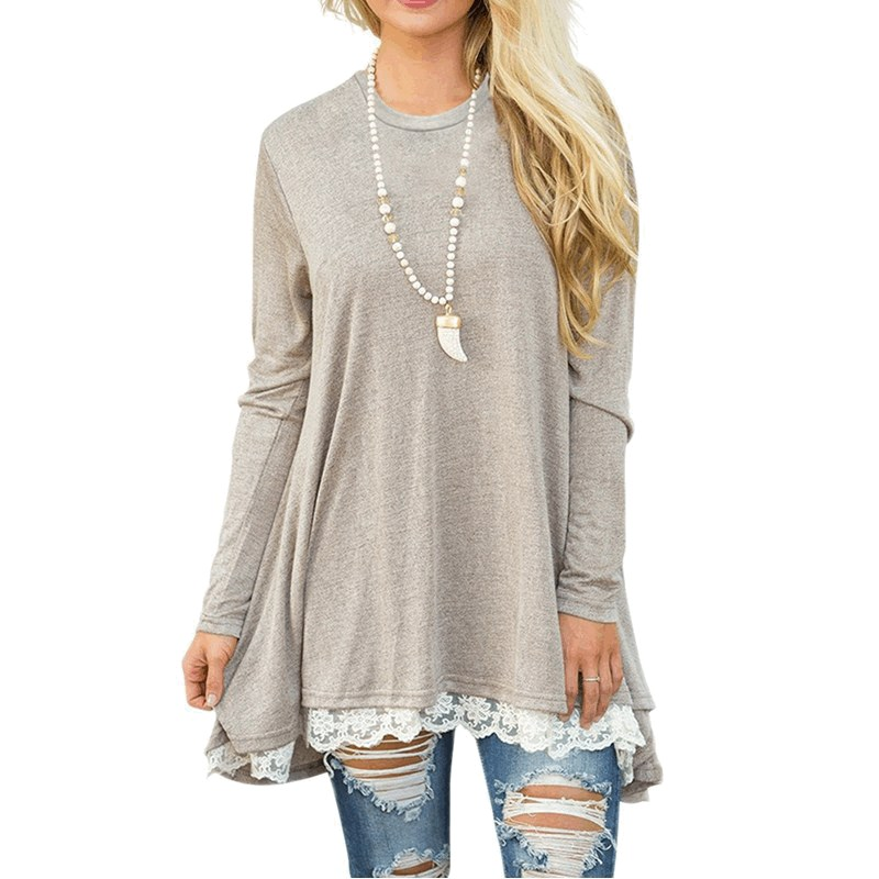 Casual Work Clothes Women Blouses And Tops Loose Shirts Autumn Winter 2017 Basic Lace Up Shirt Track Jumper Tunic Blusas
