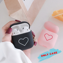 Love Heart Hard PC Case Cover Charging Holder Bag For Apple Airpods Earphone protective headphones hard shell lovers heart