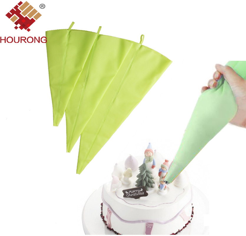 Hourong 1Pc Silicone Piping Bags DIY Reusable Icing ...