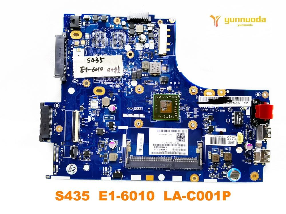 Original For Lenovo S435 Laptop  Motherboard S435  E1-6010  LA-C001P Tested Good Free Shipping