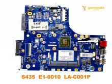 Original for Lenovo S435 laptop  motherboard S435  E1 6010  LA C001P tested good free shipping