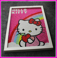 Nice Most Popular European Style 30 40 CM Diy Pink Kitty Rainbow 5D Diamond Painting Full