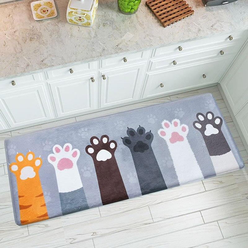 Cat Cartoon Printed Bathroom Kitchen Doormat Carpets Area Rug Floor Mats Non-Slip Tapete Mattress Door Mat for Living Room