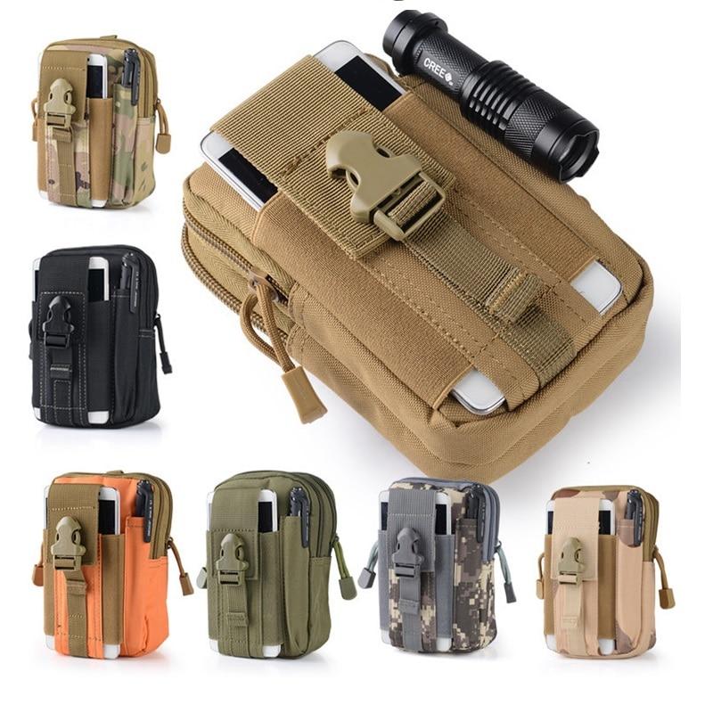 Outdoor Tactical Holster Military Molle Hip Waist Belt Bag Wallet Pouch Purse Zipper Phone Case for QMobile Noir Z8 Plus