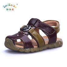 Children Sandals Close Toe Retro children Boys Sandals Comfortable Breathable Baby Shoes Summer Leather Girls Sandals KS85