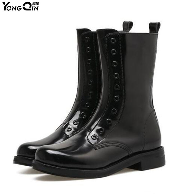 New Fashion design women Rain Boots female Waterproof RainBoots ladies Slip-Resistant Rubber soles shoes women tall rain boots ladies low hoof heels waterproof graffiti buckle high nubuck round toe rainboots 2016 new fashion design