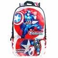 Alta Qualidade Marvel Capitão América SuperHero Notebook Computador Mochila Mochila Mochilas Escolares Homens bagpacks Unissex Mochila Escolar