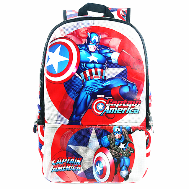 9867a83110f6 High Quality Marvel Captain America Backpack Mochila SuperHero Notebook  Computer School Bags Men bagpacks Unisex School Rucksack
