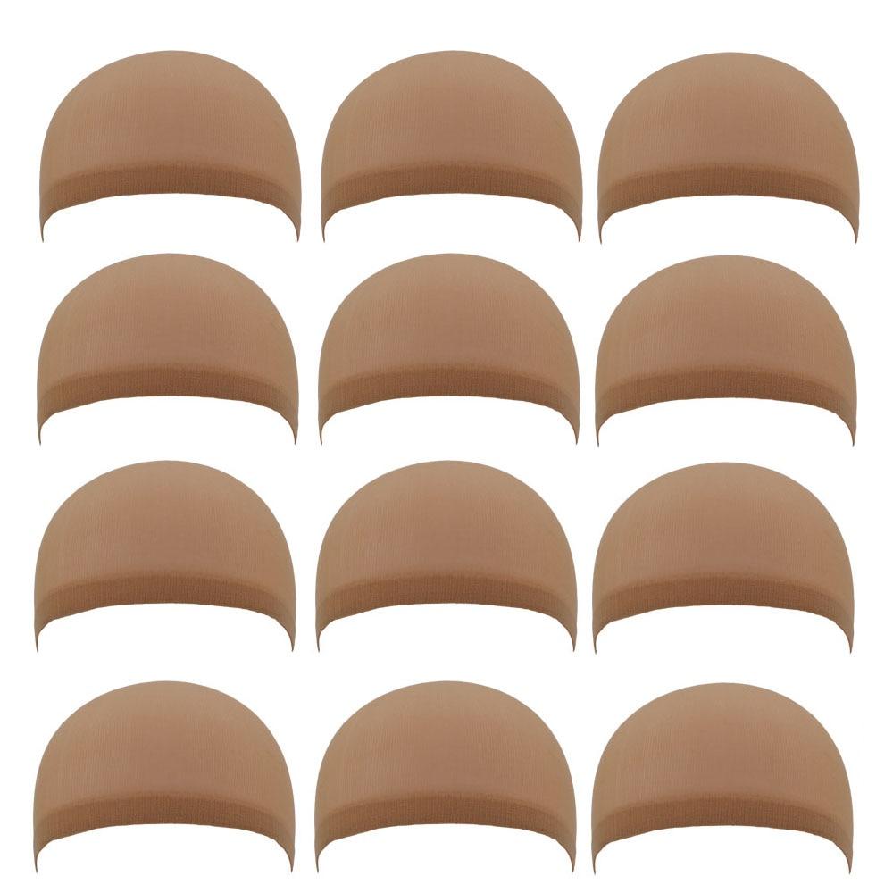 36PCS (18Packs) NEW Deluxe Dream Beige Wig Cap 2PCS/Pack Stretchable Elastic Hair Net Snood Wig Cap Hairnet Hair Mesh