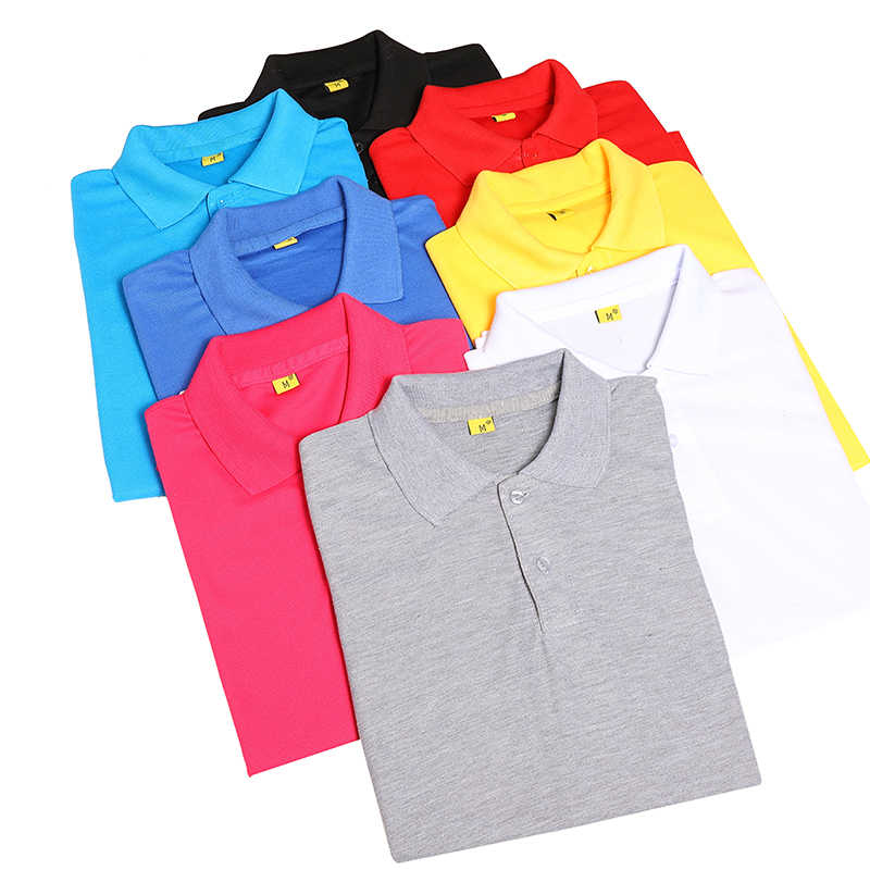 2019 Polo Shirts Men Short Sleeve Polo Shirts Brands Masculina Polo Shirt for Men Pure Color Tops  Men Clothes 3XL