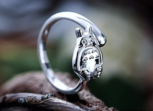 925 Sterling Silver My Neighbor Totoro Ring