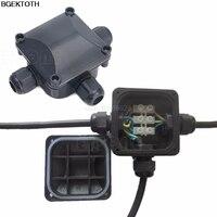 1 шт. Водонепроницаемый IP 68 распределительная коробка 3 кабеля и Провода защита DTY Инструменты для наращивания волос
