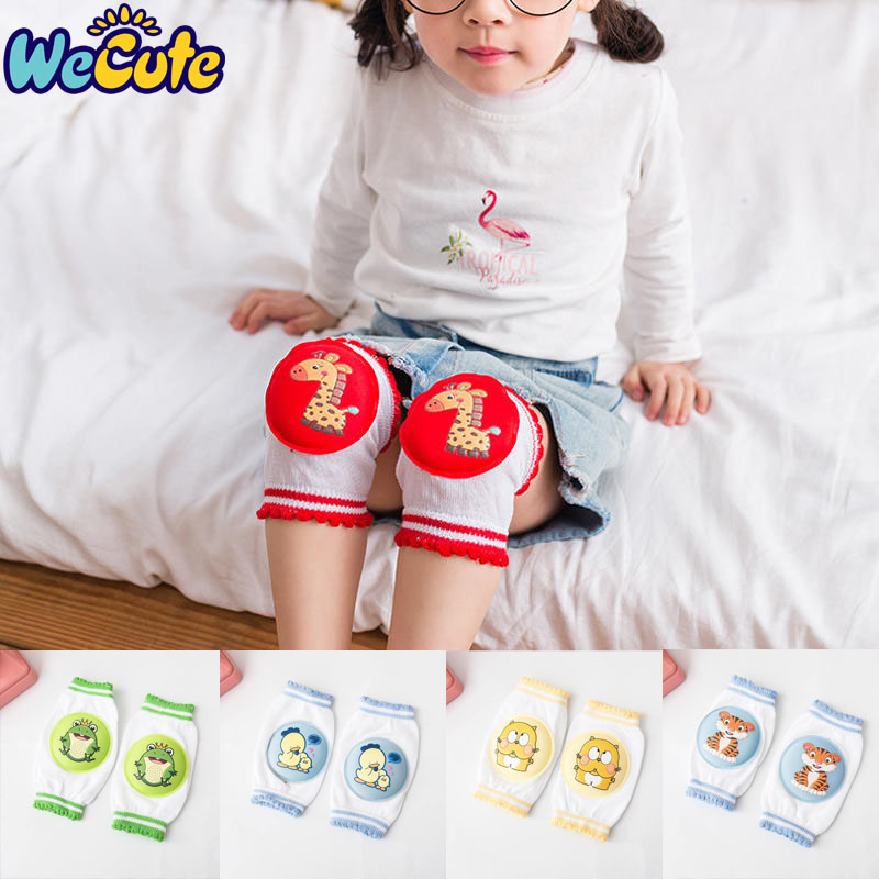 Wecute Cartoon Children's Knee Pads Cotton Baby Crawling Summer Breathable Baby Knee Pad Toddler Anti-skid Anti-slip Elbow