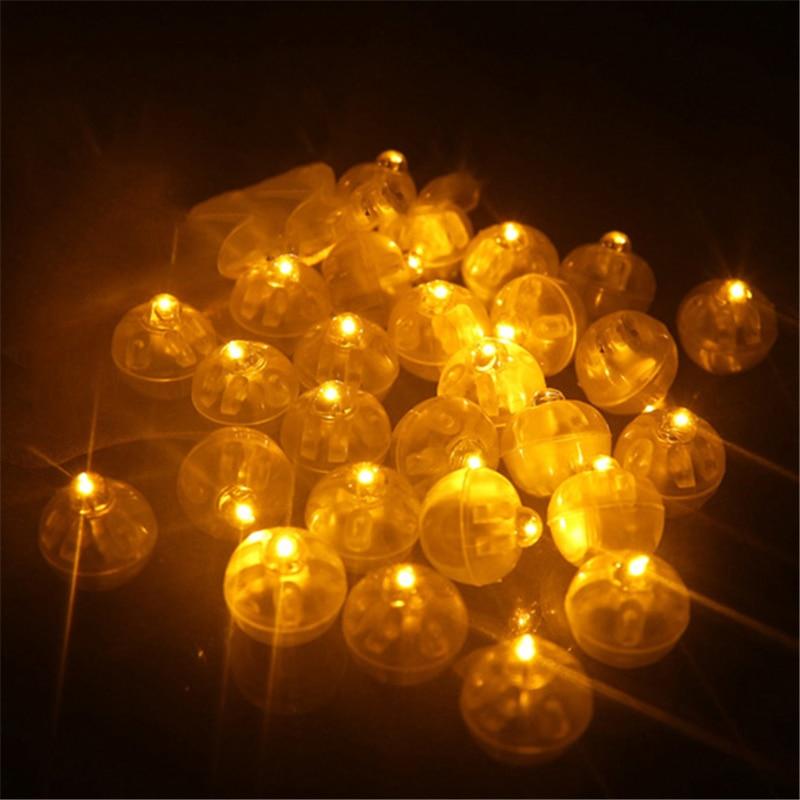 100pcs / lot עגול ללון אורות מיני מיני Led מנורות כדור אור עבור פנס נייר סינית חתונה חג המולד מסיבת ליל כל הקדושים