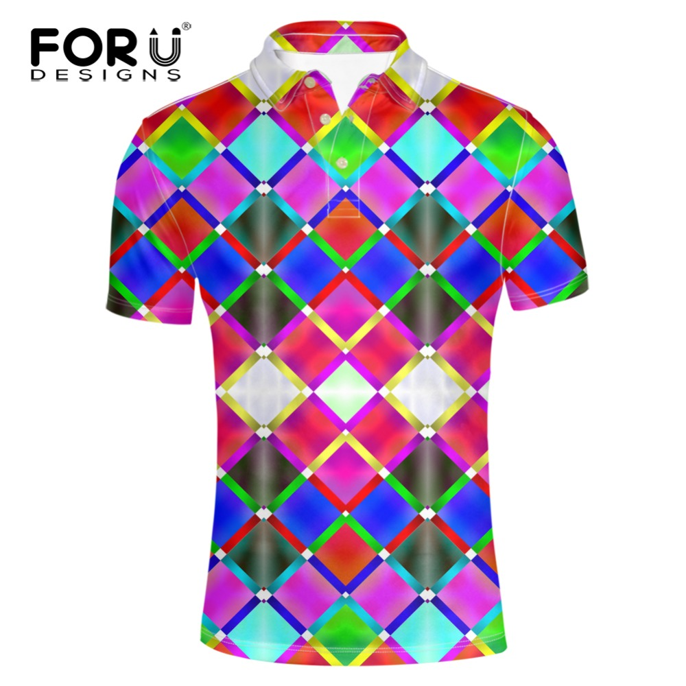 d1d689b2 FORUDESIGNS Sales Rainbow Clothing Men Polo Shirt Men Business & Casual  Male Polo Shirt Short Sleeve Breathable Polo Shirt Men-in Polo from Men's  Clothing ...