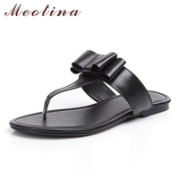 Flip Flops Genuine Leather Shoes Women Sandals Summer Slippers Thong Sandals Real Leather Plat Beach Shoes