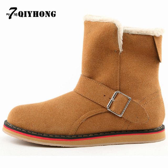 QIYHONG brand  Autumn 2016  and winter   Hot sales   New men 's snow boots   Fashion plus velvet  Keep warm Anti-slip boots
