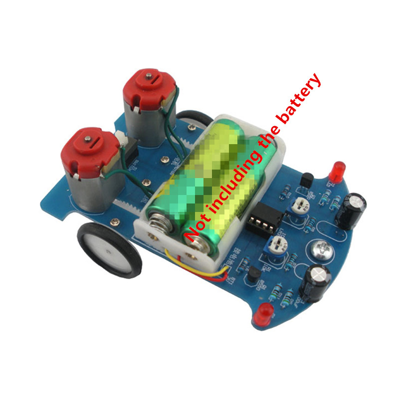 DIY Kit D2-5 Intelligent Tracking Line Car Suit Motor Electronic Assembly Smart Patrol Smart Automobile Parts(China)