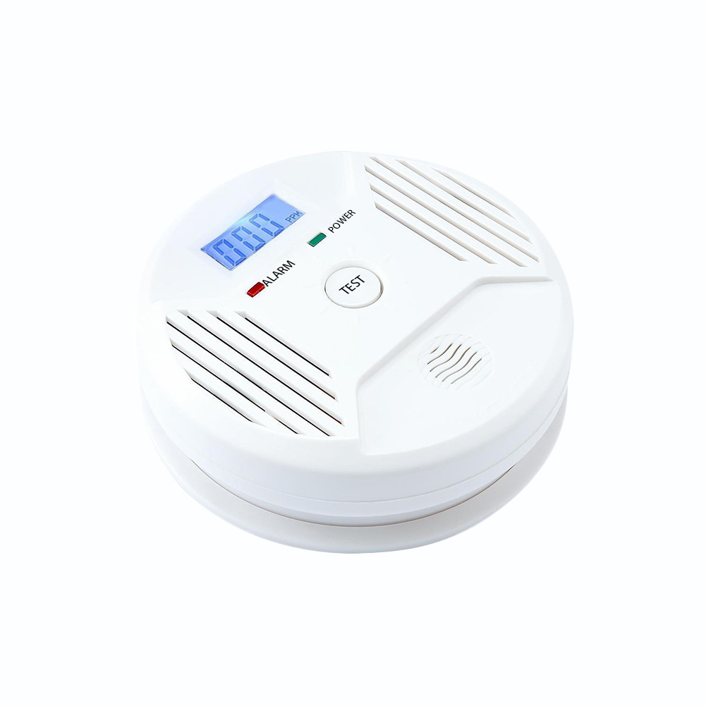 Carbon Monoxide Tester Alarm Gas Leakage Detector Fire Danger Alert Smoke Detectors Home Hotel Office Factory (without Battery)