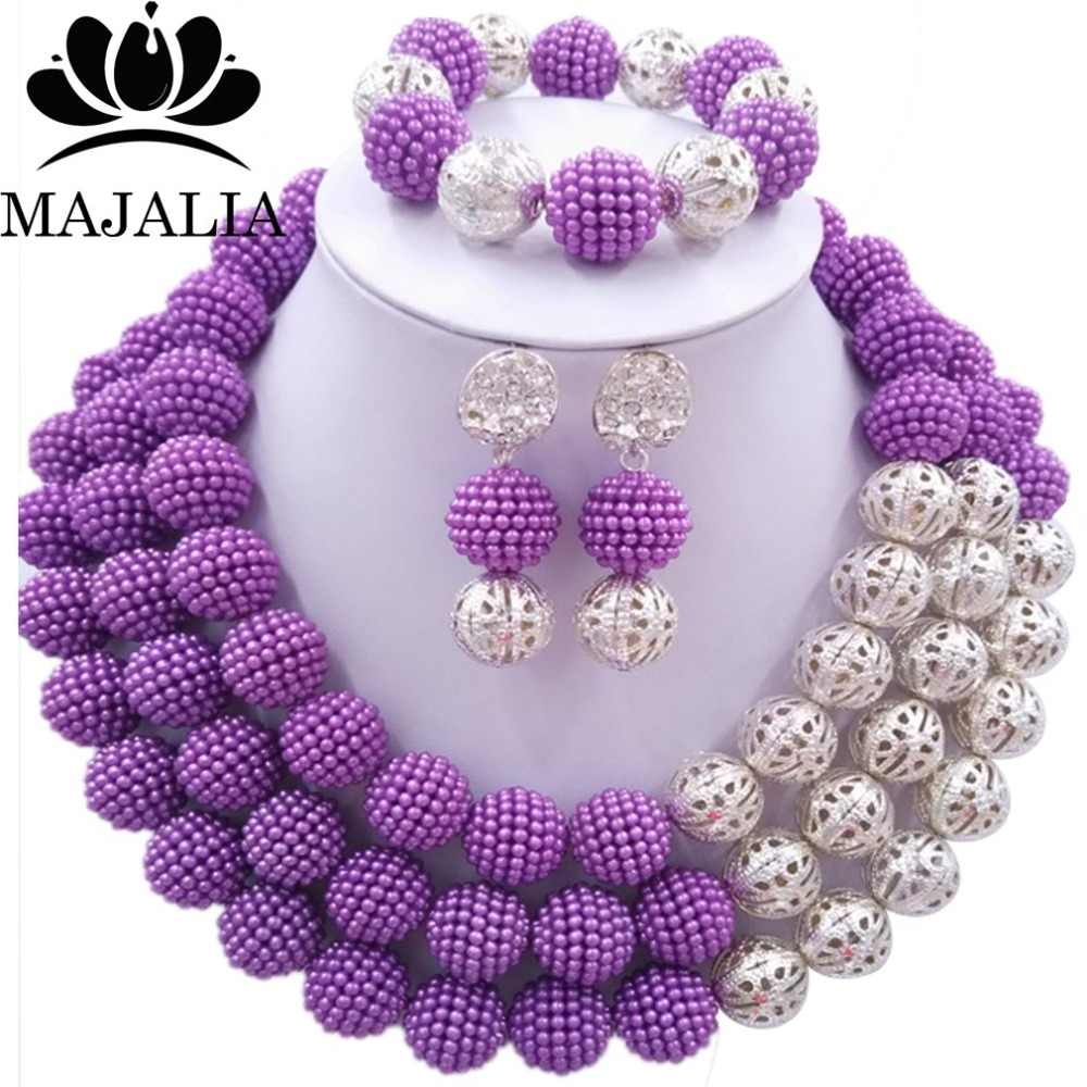 Fashion african jewelry set Purple Plastic Nigeria Wedding african beads jewelry set Free shipping Majalia-209Fashion african jewelry set Purple Plastic Nigeria Wedding african beads jewelry set Free shipping Majalia-209