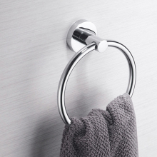 bathroom accessories Towel Ring Stainless Steel Holder Hanger Chrome Wall Mounted Bathroom hand towel ring