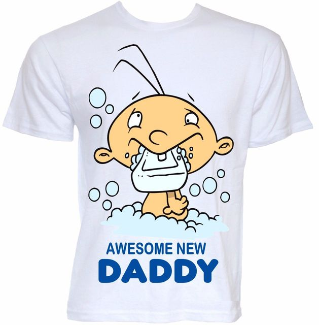 Mens Funny Cool Novelty New Born Daddy Dad Baby Shower