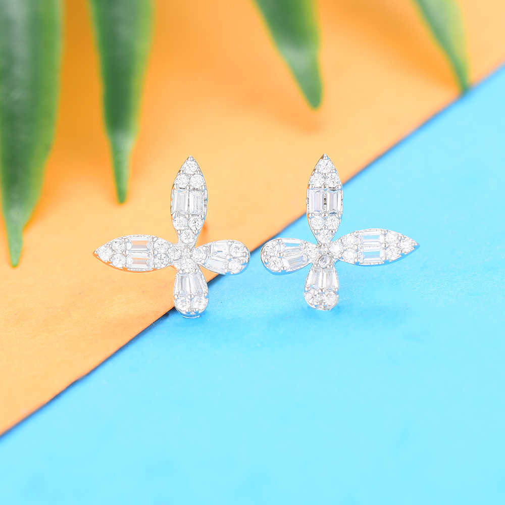 GODKI Luxus 3PCS Dubai Hochzeiten Schmuck Sets für Frauen Mode Blume Kette Wasser Tropfen Halskette Big Drop Ohrringe Schmuck sets