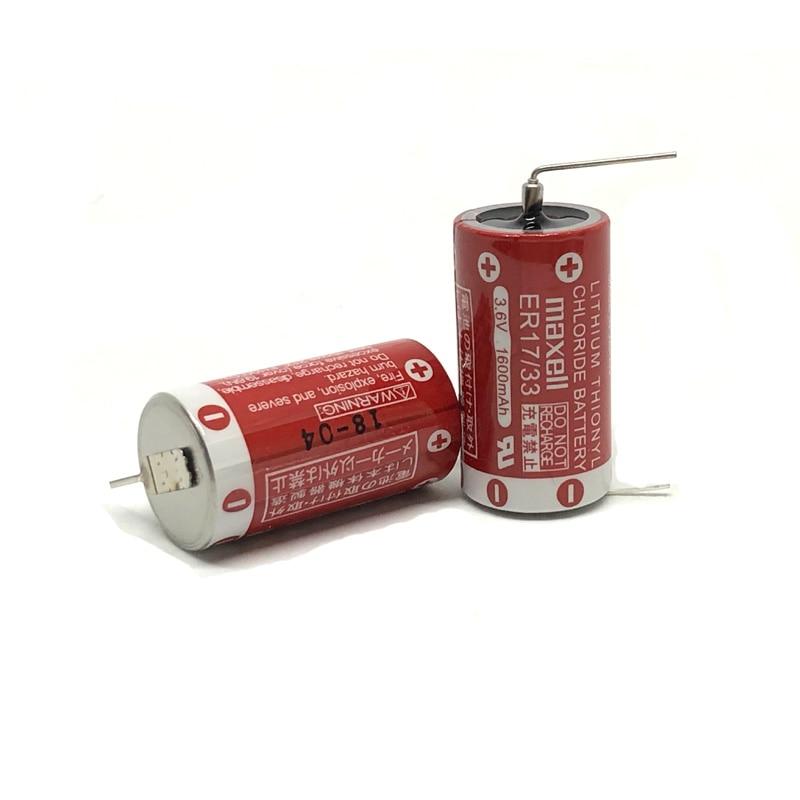 10 pçs/lote Marca Original Novo Maxell ER17/33 Bateria de 3.6V 1600mAh Baterias De Lítio PLC (ER17/ 33)