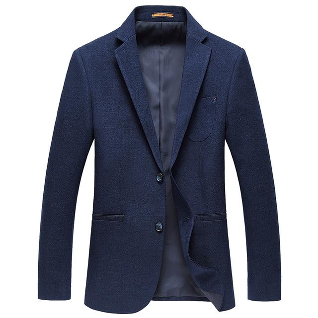 Abiti Casual per Gli Uomini Blu di Marca Maschile Abbigliamento Moda Blazer  Solido colore Slim Fit 0fecc463533