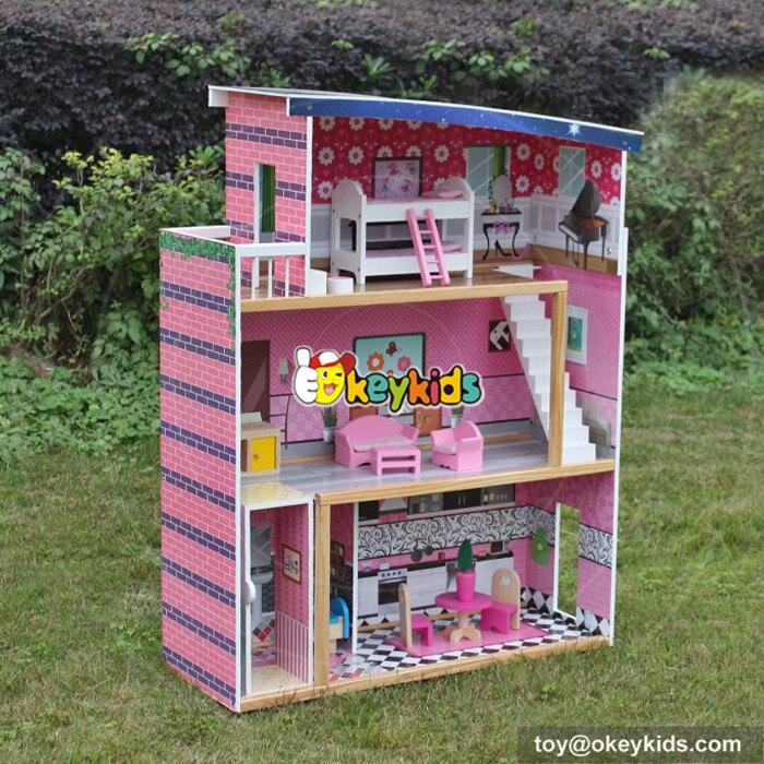DIY Кукольный дом деревянные кукольные домики миниатюрный кукольный домик мебель комплект игрушки для детей