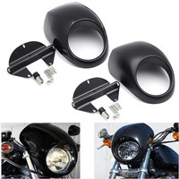 Motorcycle Head light Mask Headlight Fairing Front Cowl Fork Mount for Harley Sportsters Dynas FX XL 883 1200 Accessory