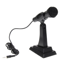 3 5mm Jack Professional Stereo Sound Microphone With Stand Holder For Radio Podcast Chat Singing Mic