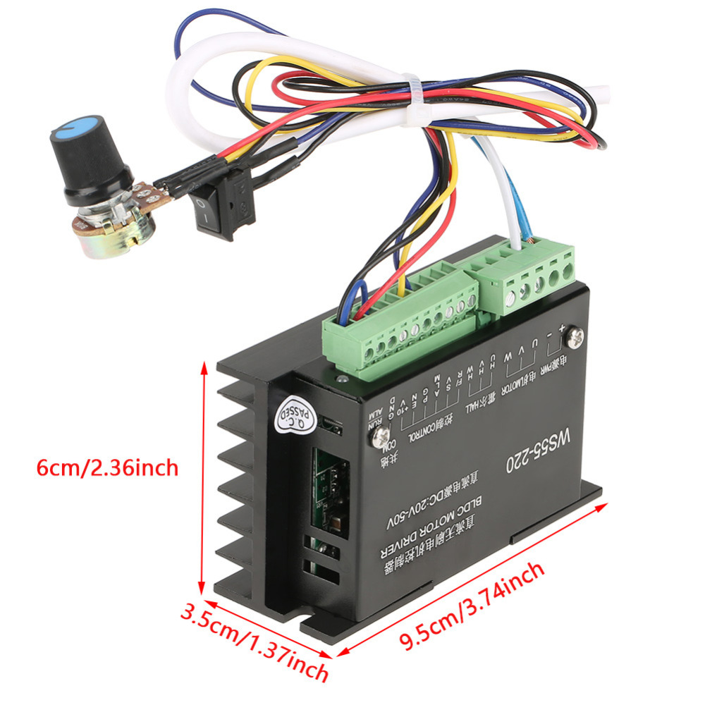 Ws55 220 Brushless Dc Motor Driver 48v 500w Cnc Spindle 3 Phase Controller Diagram Wiring Bldc In From Home Improvement On