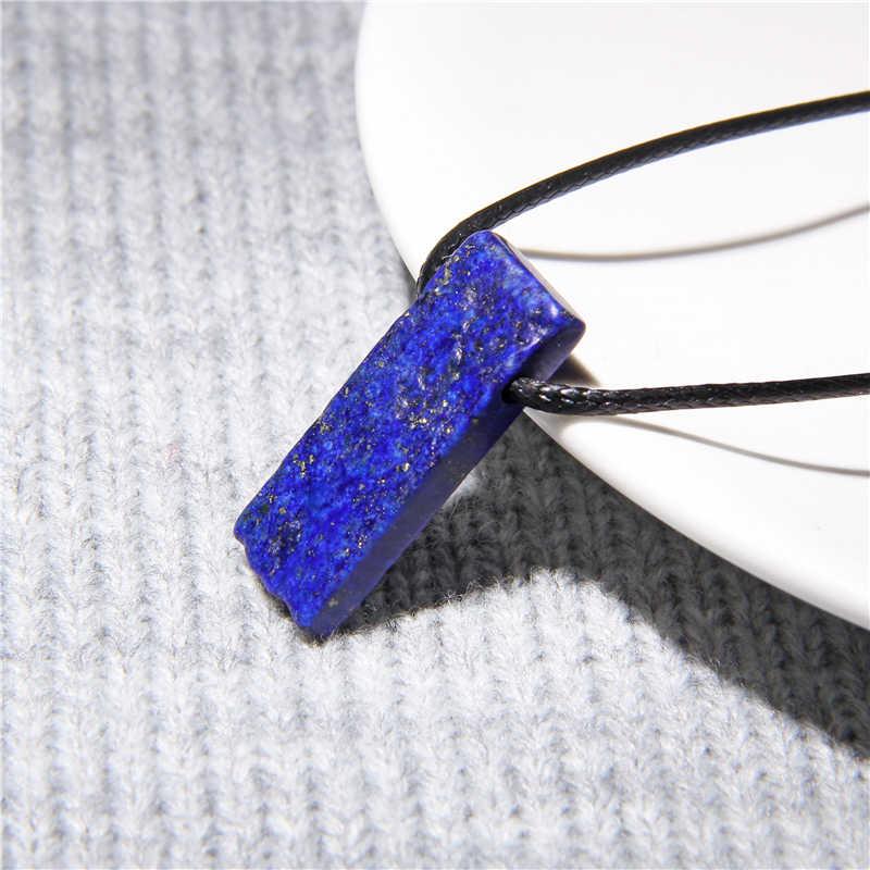Kettingen Natuursteen Slice Point Kralen Ketting Ruwe Amazoniet Lapis Lazuli Turkoois Kralen Kettingen Voor Vrouwen Mannen Sieraden