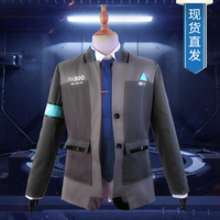 Game Detroit Become Human Connor Cosplay Costume RK800 Agent Suit Halloween Carnival Uniforms Men's Formal Coat+Tie