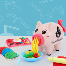 Plasticine Mold Tool Set Color Mud Pig Noodle Machine Child Girl Play House Toy Children Fun Educational