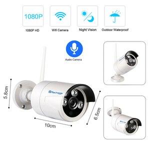 "Image 3 - Techage 8CH 1080P Kit NVR inalámbrico sistema WiFi CCTV 12 ""Pantalla de monitor LCD 2MP cámara de seguridad exterior infrarroja videovigilancia"