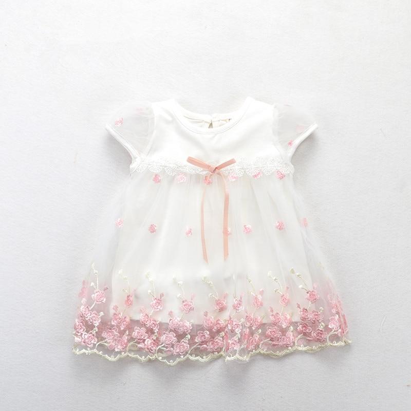 Baby Girls Dress 2019 New Short Sleeve Newborn Dresses For Baby Girls Summer Birthday Party Dress Baby Clothing 0-2T