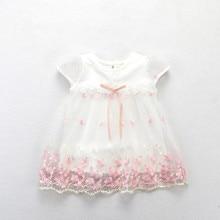 Платье для маленьких девочек; Новинка г.; платья с короткими рукавами для новорожденных девочек; летнее праздничное платье для дня рождения; одежда для малышей; От 0 до 2 лет