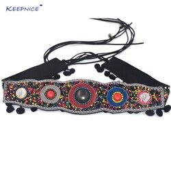 الغجر الهبي boho التركية إهتز الأزياء البوهيمية أسلوب حزام الرقص الجسم سلسلة العرقية وشاح حزام dresse ريترو الأسود جلدية حزام