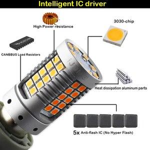 Image 3 - IJDM P21W LED 赤 Canbus Obc なしハイパーフラッシュ 1156 PY21W Bau15s LED フロントリアターンシグナルライト、テールライト、ブレーキライト