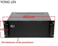 1pcs HTPC CHASSIS 19 inch chassis data switch box communication server chassis 4U chassis