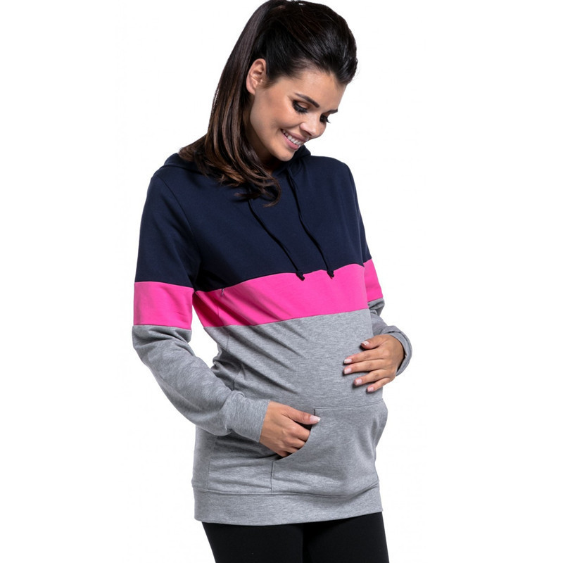 More Function Breastfeeding Clothing Lactation Woman Long Sleeve Top  Nursing Pregnant Clothes Pregnancy Tshirt Maternity Tops