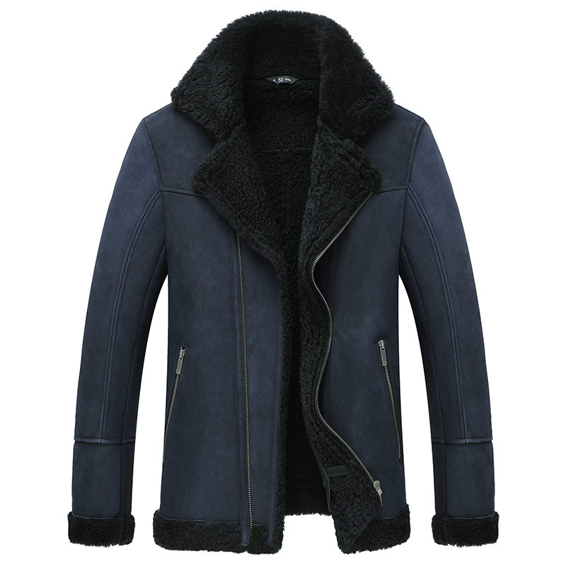Real Fur Coat Men Sheep Shearing Winter Jackets Mens Wool Coats Korean Fashion plus size jacket Veste Homme M18D06005L YY742(China)