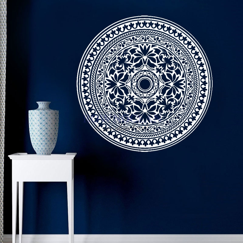 Fashion Creative Indian Round Mandala Vinyl Wall Stickers Home Decorations Yoga Art Home Decor Living Room Mural Removable MA-01