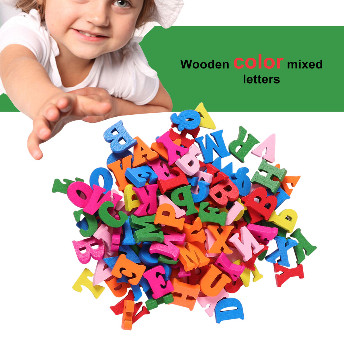 100Pcs/Pack Decorative Wooden Letters Colorful Wooden Alphabet Wall Letter For Home DIY Party Festival Decoration