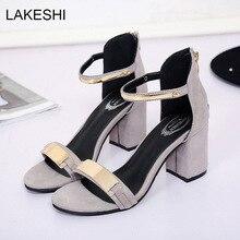 Lakeshi frauen sandalen high heels mode sommer bling strand schuhe sexy damen sandalen