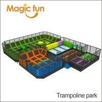 Волшебный весело популярные новые игры большой Крытый парк развлечений батут игры Парк с пеной боксе Баскетбол и скалодром