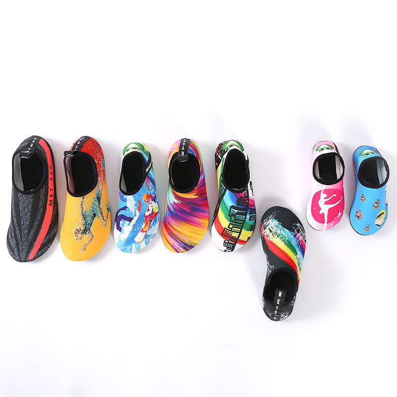 2018 женские и мужские пляжная обувь пара Aqua тапки быстросохнущая Upstream обувь бассейн Плавание Surf шлепанцы для Плавания мягкие туфли на плоско...