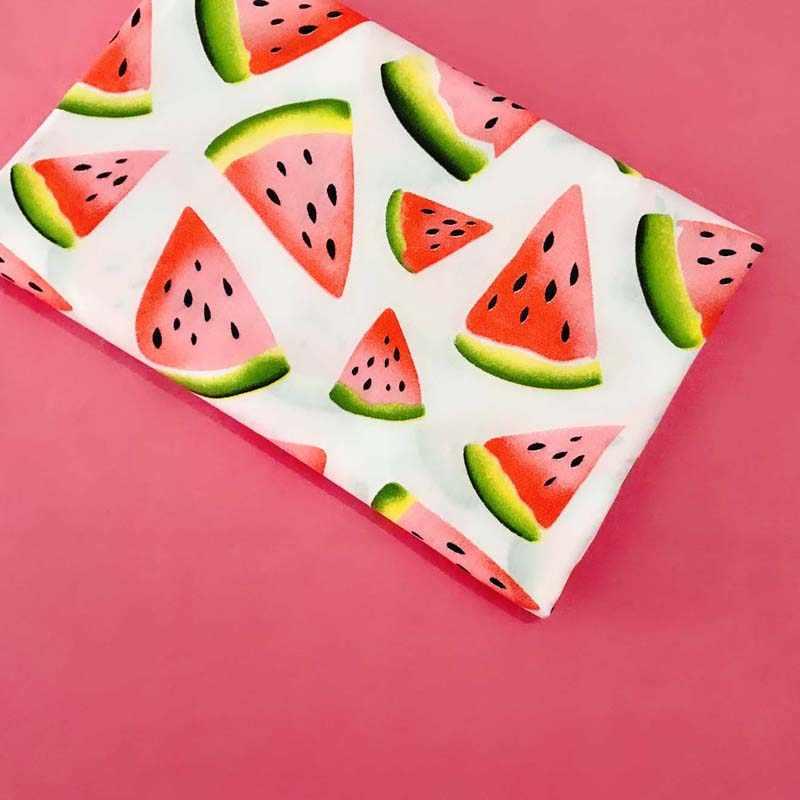 160 см * 50 см хлопчатобумажной ткани фрукты красный арбуз в розовый горошек одноцветное кирпич розовый ткань для DIY кроватка постельные принадлежности подушки платье ручной работы Декор